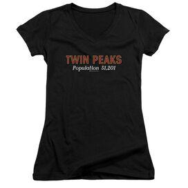 Twin Peaks Population Junior V Neck T-Shirt