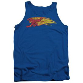 Dc Flash Fastest Man Alive - Adult Tank - Royal Blue