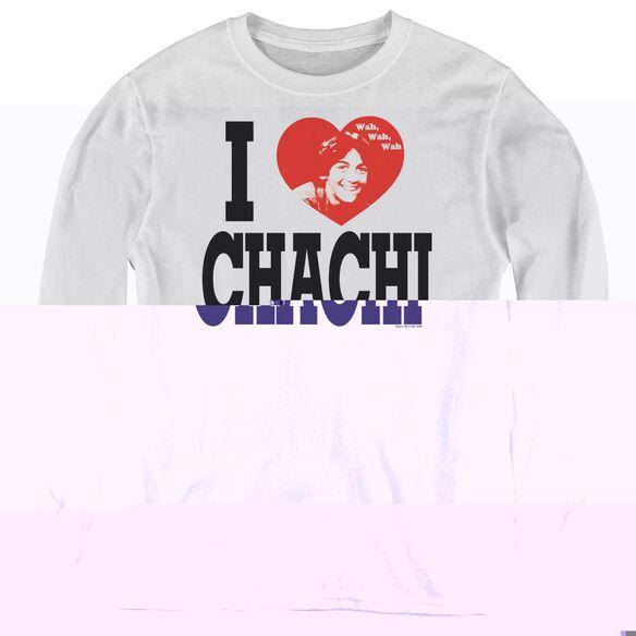 Happy Days I Heart Chachi - Youth Long Sleeve Tee - White
