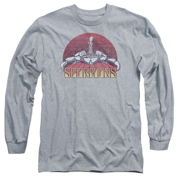 Scorpions Scorpions Color Logo Distressed Long Sleeve Adult Athletic T-Shirt