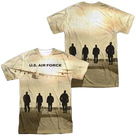 Air Force Long Walk (Front Back Print) Short Sleeve Adult Poly Crew T-Shirt