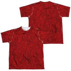 Sesame Street Elmo Costume (Front Back Print) Short Sleeve Youth Poly Crew T-Shirt