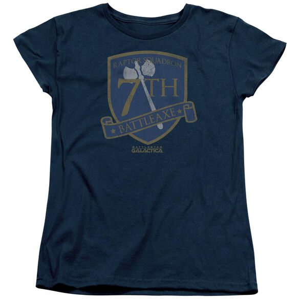 Bsg Battleaxe Badge Short Sleeve Womens Tee T-Shirt
