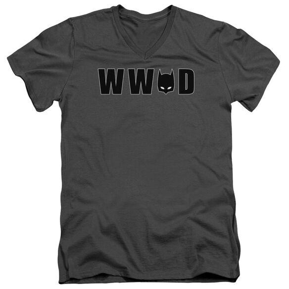 Batman Wwbd Mask Short Sleeve Adult V Neck T-Shirt