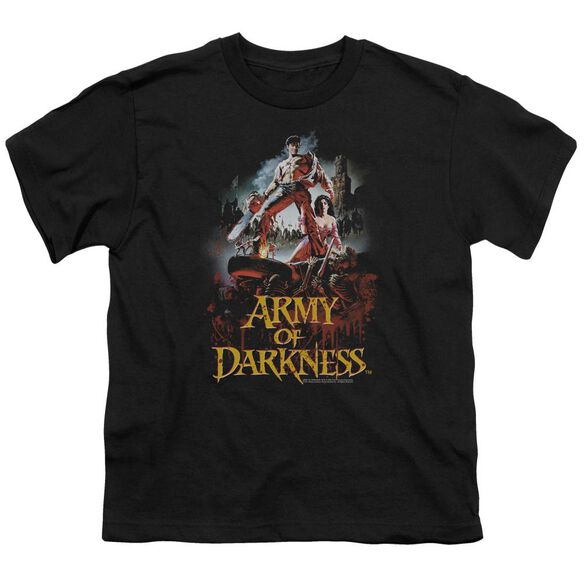 Army Of Darkness Bloody Poster Short Sleeve Youth T-Shirt