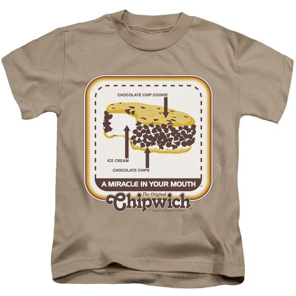 Chipwich Mouth Miracle Short Sleeve Juvenile Sand T-Shirt