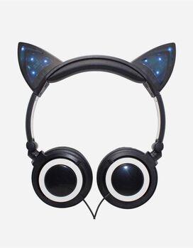 Gabba Goods Cat Ears LED Headphones [Black]