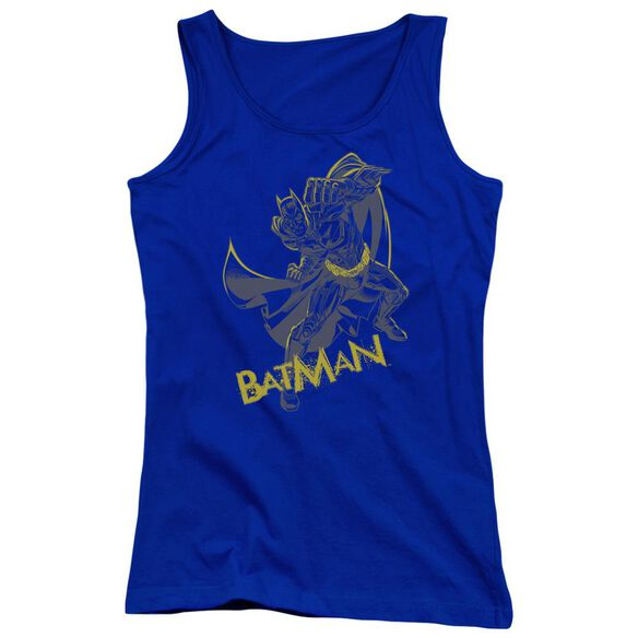 Dark Knight Rises Left Hook Juniors Tank Top Royal
