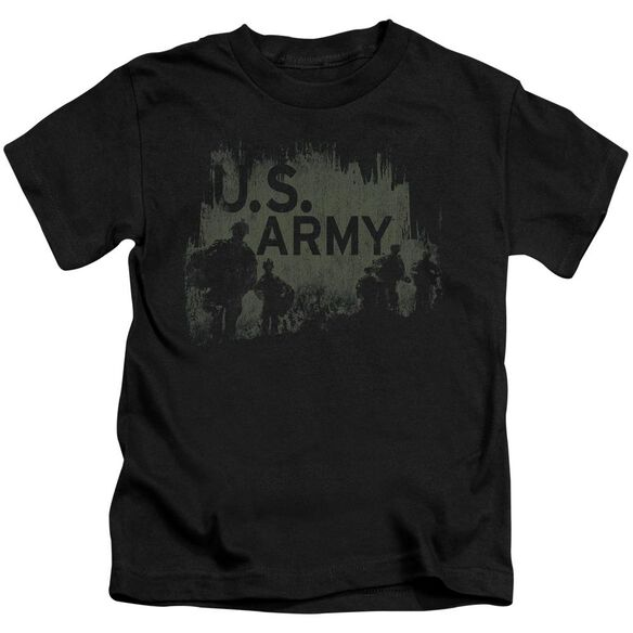 Army Soldiers Short Sleeve Juvenile Black T-Shirt