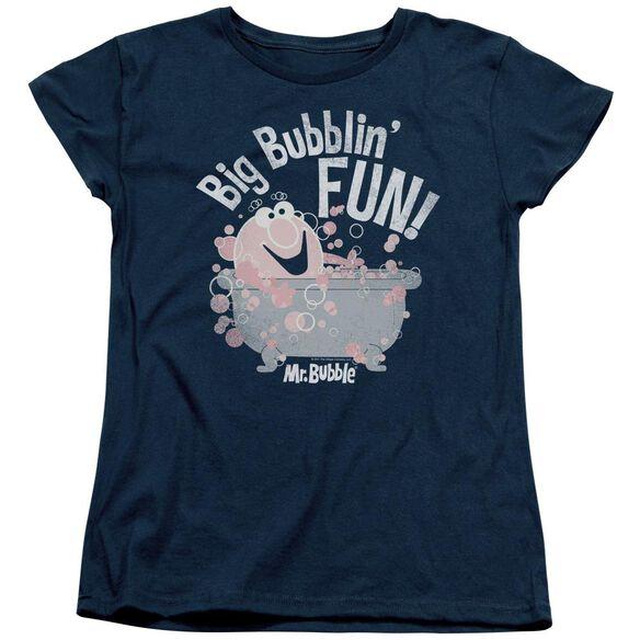 Mr Bubble Big Bubblin Fun Short Sleeve Women's Tee T-Shirt