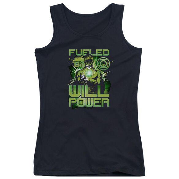 Green Lantern Fueled - Juniors Tank Top - Black