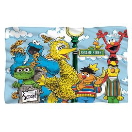 Sesame Street Retro Gang Fleece Blanket