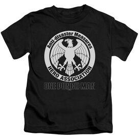 One Punch Man Hero Association Logo Short Sleeve Juvenile Black T-Shirt