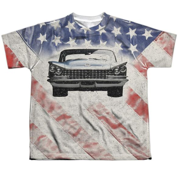 Buick 1959 Electra Flag Short Sleeve Youth Poly Crew T-Shirt