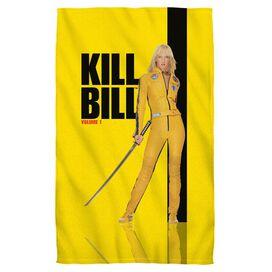 Kill Bill Vol 1 Poster Towel White
