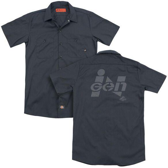 Jurassic Park Ingen Logo (Back Print) Adult Work Shirt