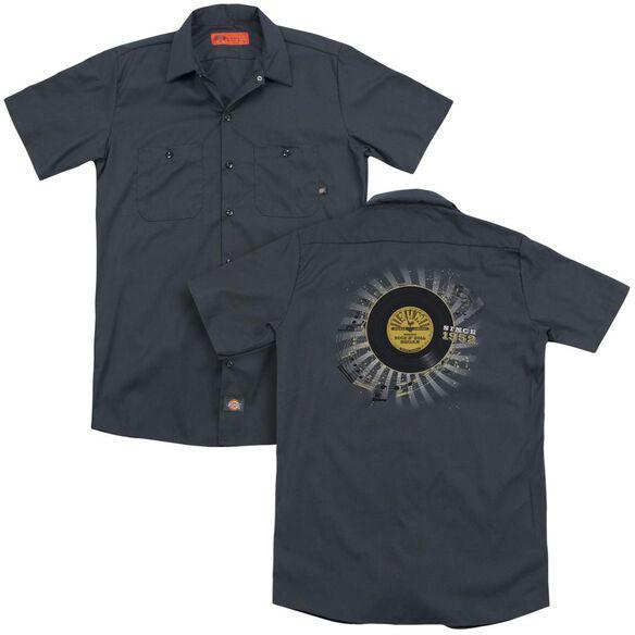 Sun Established(Back Print) Adult Work Shirt
