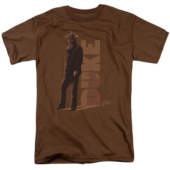 John Wayne Lean Short Sleeve Adult Coffee T-Shirt