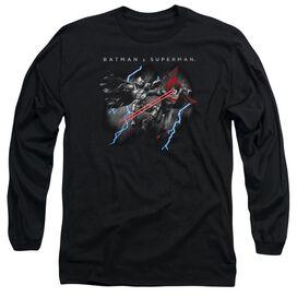 Batman V Superman Lightning Fight Long Sleeve Adult T-Shirt