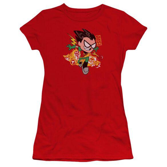 Teen Titans Go Robin Premium Bella Junior Sheer Jersey