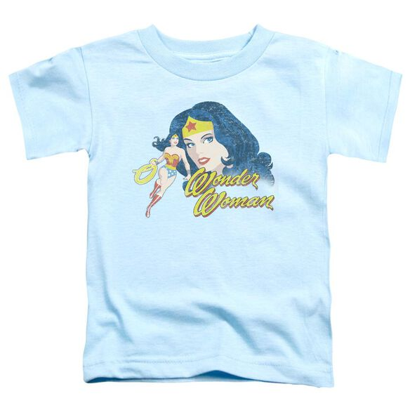 Jla Portrait Short Sleeve Toddler Tee Light Blue Md T-Shirt