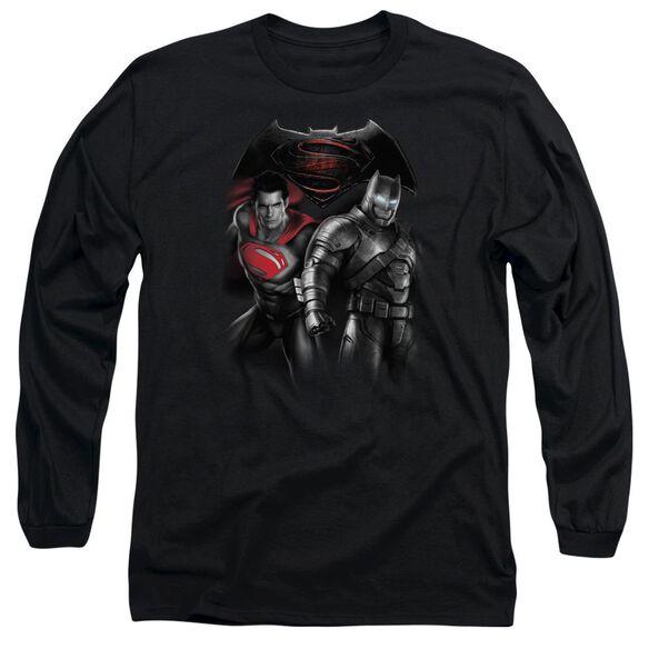 Batman V Superman Stand Off Long Sleeve Adult T-Shirt