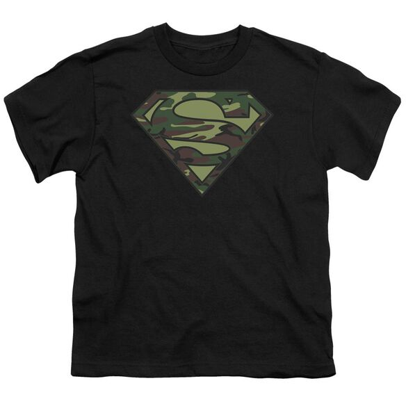 Superman Camo Logo Short Sleeve Youth T-Shirt