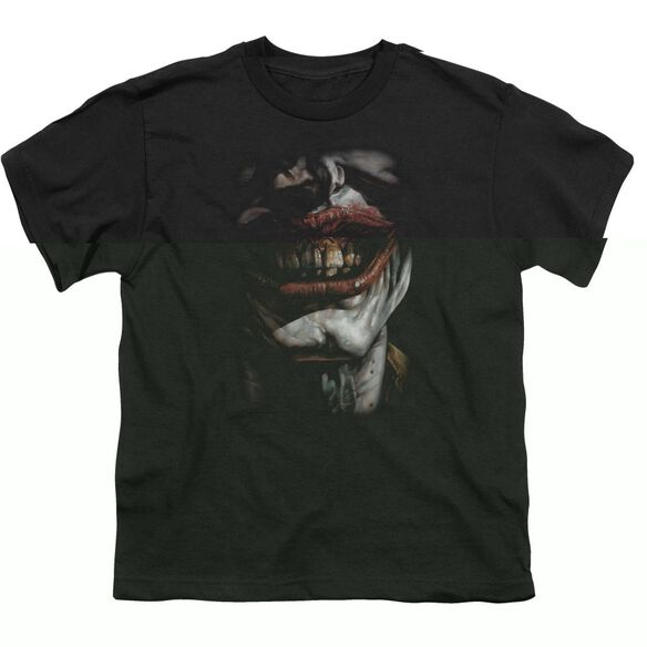 BATMAN SMILE OF EVIL - S/S YOUTH 18/1 - BLACK T-Shirt