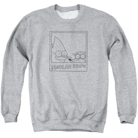 Regular Show Poloroid Adult Crewneck Sweatshirt Athletic