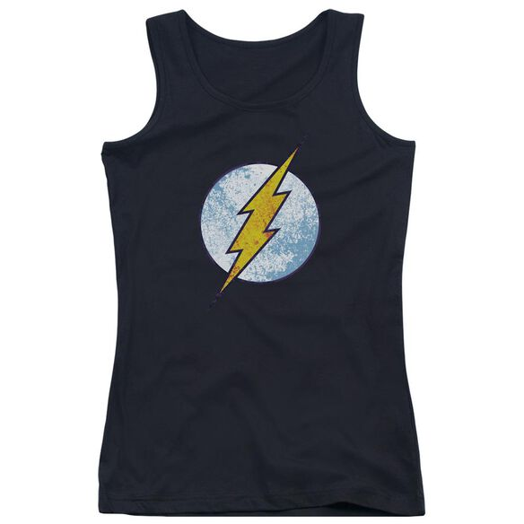 Dc Flash Flash Neon Distress Logo Juniors Tank Top