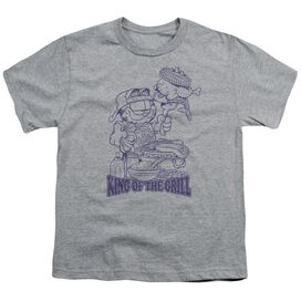 Garfield King Of The Grill Short Sleeve Youth Athletic T-Shirt
