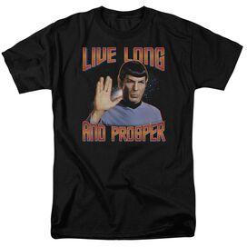 St Original Live Long And Prosper Short Sleeve Adult Black T-Shirt