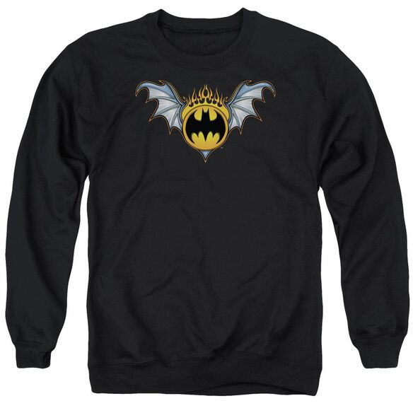 Batman Bat Wings Logo Adult Crewneck Sweatshirt
