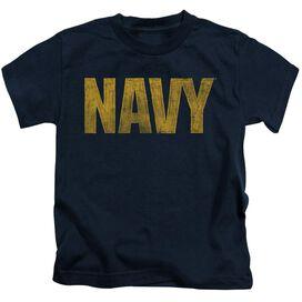 Navy Logo Short Sleeve Juvenile Navy T-Shirt