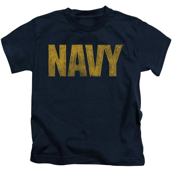 Navy Logo Short Sleeve Juvenile Navy T-Shirt