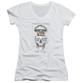 Rubik's Cube Outside The Cube Junior V Neck T-Shirt