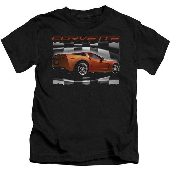 Chevrolet Orange Z06 Vette Short Sleeve Juvenile Black T-Shirt
