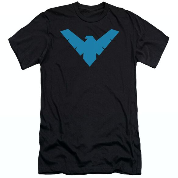 BATMAN NIGHTWING SYMBOL - S/S ADULT 30/1 - BLACK T-Shirt