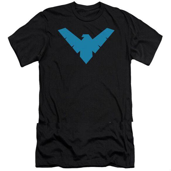 BATMAN NIGHTWING SYMBOL - S/S ADULT 30/1 - BLACK T-Shirt