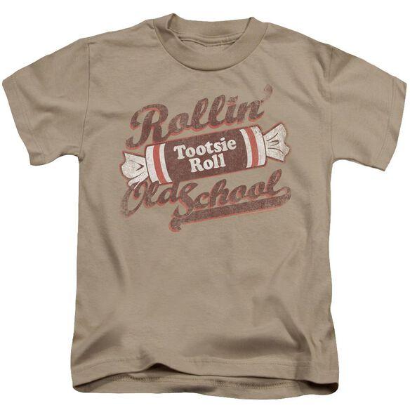 Tootsie Roll Old School Short Sleeve Juvenile Sand T-Shirt