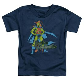 Dc Martian Manhunter Short Sleeve Toddler Tee Navy Lg T-Shirt