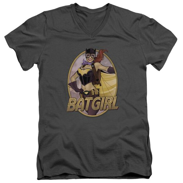 Jla Batgirl Bombshell Short Sleeve Adult V Neck T-Shirt