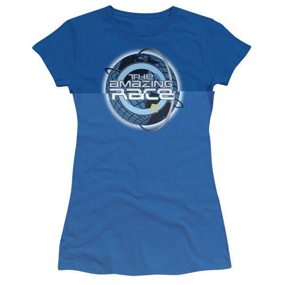 AMAZING RACE AROUND THE GLOBE - S/S JUNIOR SHEER - ROYAL BLUE T-Shirt
