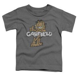 Garfield Retro Garf Short Sleeve Toddler Tee Charcoal Lg T-Shirt