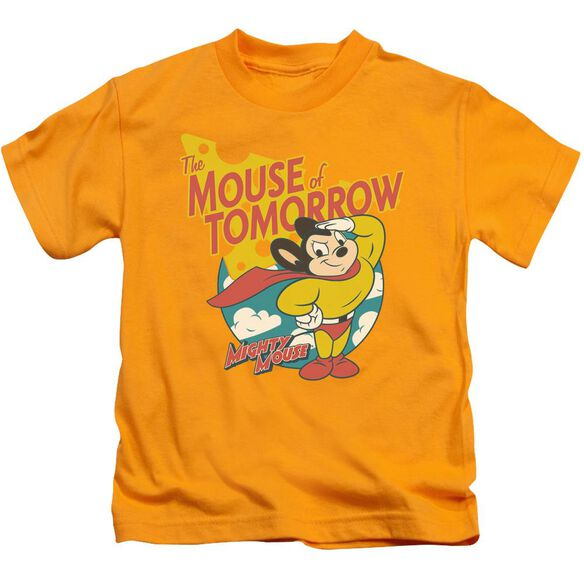 Mighty Mouse Mouse Of Tomorrow Short Sleeve Juvenile Gold T-Shirt