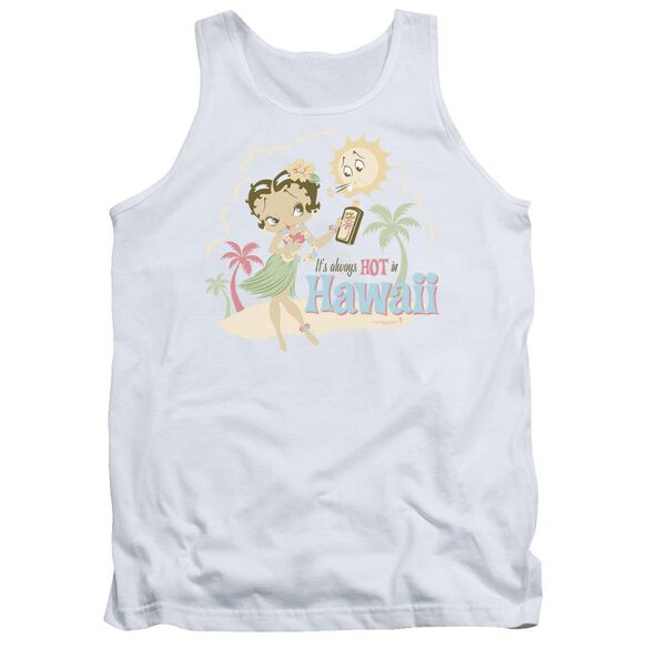 Betty Boop Hot In Hawaii Adult Tank