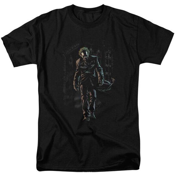 Batman Joker Leaves Arkham Short Sleeve Adult T-Shirt