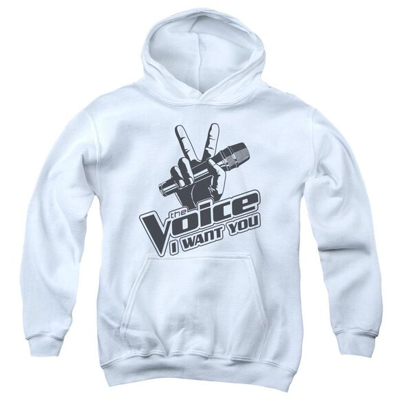 The Voice One Color Logo Youth Pull Over Hoodie