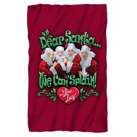 I Love Lucy Dear Santa Fleece Blanket