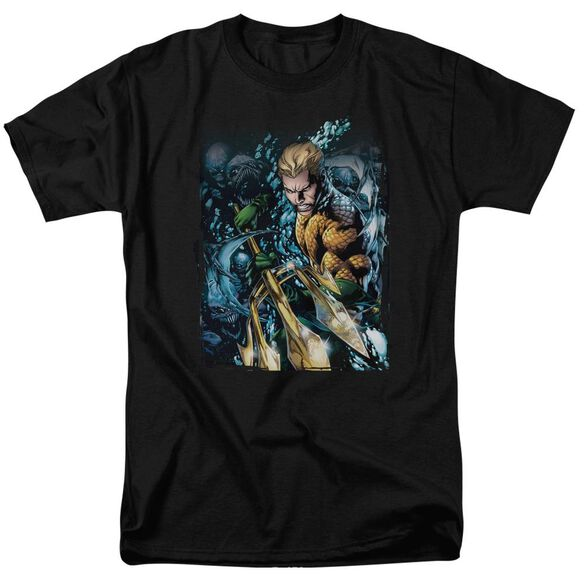 Jla Aquaman #1 Short Sleeve Adult T-Shirt